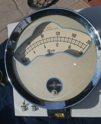 Vintage Large Victor X-RAY Milli-Ammeter gauge 8.5 inch dia. Ultimate Steampunk!