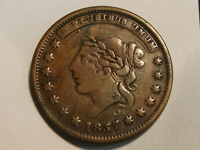 1837 Millions For Defence Not One Cent For Tribute Hard Times Token HTT