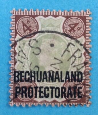 Botswana Bechuanaland Protectorate 1897 Victoria 4d SG 64 Dated Francistown Fine