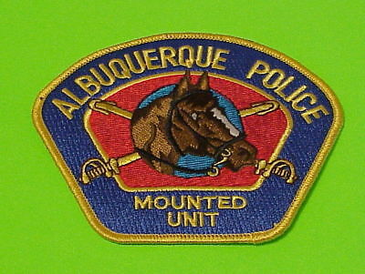 Albuquerque Nm ( Gold Border / Blue Background )  Mounted Unit  Police Patch