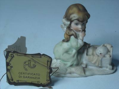 Florence Armani's  Little Treasures GIRL WITH CAT IN CRADLE Armani Figurine