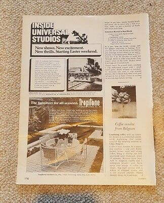 1974 Print Ad-Inside Universal Studios-New shows-excitement-thrills-Easter