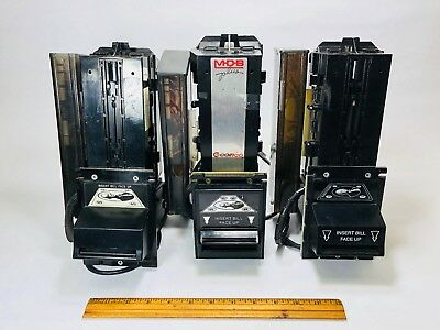 LOT OF 3 Coinco Dollar Bill Acceptor Validators vending machine soda FOR PARTS!