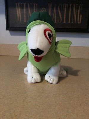 Target Dog Bullseye Plush In Green Fish Costume