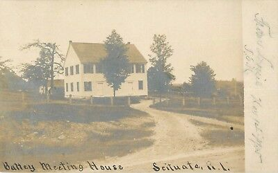 c1905 Battey Meeting House, Scituate, Rhode Island Real Photo Postcard/RPPC