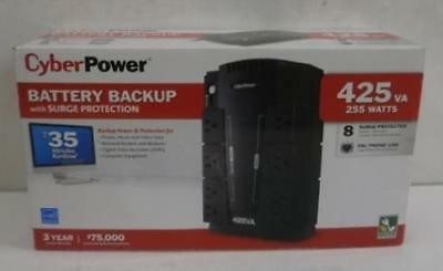 CYBERPOWER SE425G 425VA 255W Battery Backup 8-Outlet UPS Surge Protector
