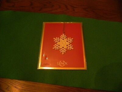 Lenox China Miniature Snowflake Ornament