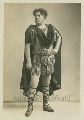 Handsome actor opera singer ? in amazing costume antique art photo