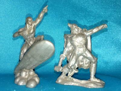 2 Gallo Pewter Marvel Comic Figurines, Thor & The Silver Surfer