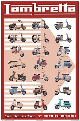 Poster LAMBRETTA SCOOTER - Evolution  NEU 57761