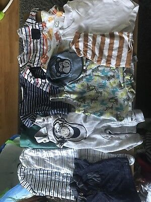 Over 40 Items Of Baby Boys Clothes Bundle 3/6 Months