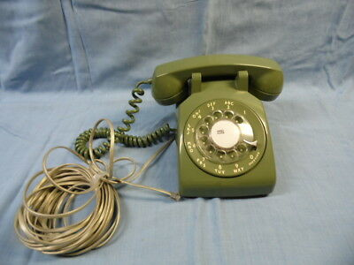 Vin Bell System Western Electric Green Rotary Wall Modular  Phone  Tested Works