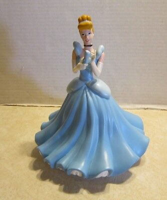 "Disney Princess Cinderella Blue Ball Gown w Glass Slipper 10"" Coin Bank F824"