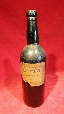 Great Civil War Era Spirits Dark Brown Spirits Glass Bottle With Maker Label