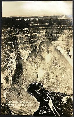 1930's Kilauea Volcano TH Hawaii National Park AZO RPPC