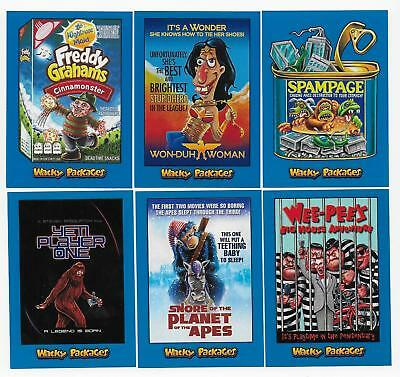 2018 Topps Wacky Packages Go To The Movies BLUE Parallel Card Set  90 CARDS