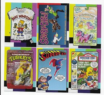 2018 Topps Wacky Packages Go to the Movies SMALL SCREEN Insert Set  20 Stickers