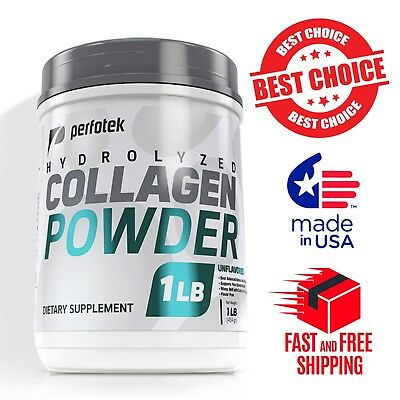 ▶ Premium Collagen Peptides 16 oz Hydrolyzed Anti-Aging Protein Powder Kosher