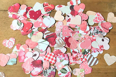 Heart Vintage Wedding Table Confetti-Rustic/Classic/Floral/Flowers/Love/Pink/Red