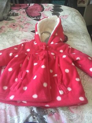 Baby Girls 0-3months Pink Spotty Coat From George