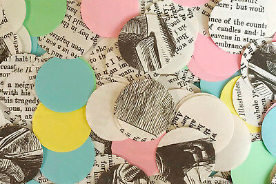 Fairy Tale Wedding Table Circle Confetti/Decoration/Scatters-Book & Pastel Paper