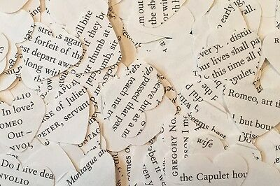 Heart Wedding Table Confetti - Shakespeare Play / Book - Twelfth Night - Comedy