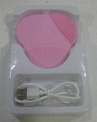 Sonic Silicone Facial Cleansing and Massage Brush, Pink