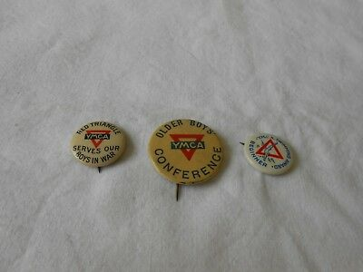 Three Very Old Young Mens Christian Association Ymca Pins