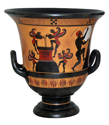 Krater Ancient Greek Museum Pottery Replica Reproduction