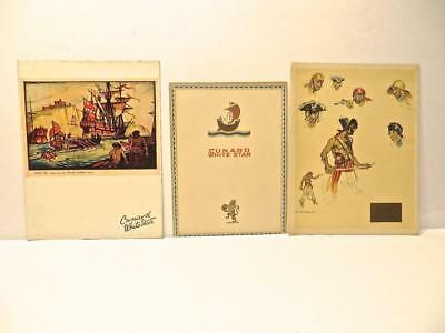 3 Different 1935 SS Doric Cunard White Star Line Menus Group 2 No Reserve