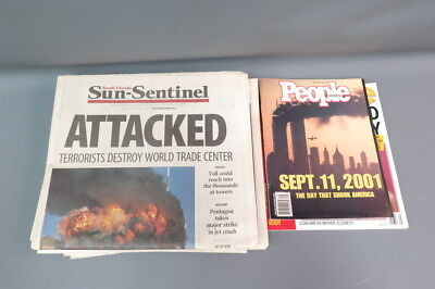 Lot Sept 11 9/11 Related Newspapers New York Post Sun-Sentinel People Magazine