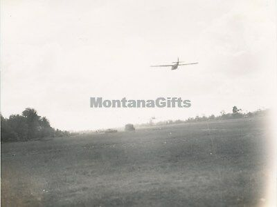 June 1944 D-Day Normandy USAAF 435th TCG 77th TCSq  Photo #10 C-47 tows glider