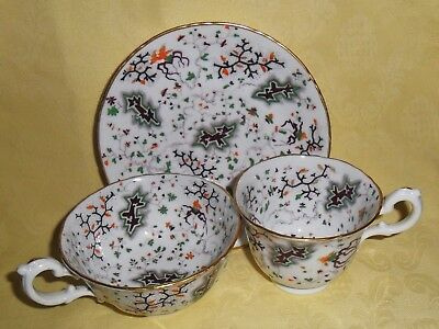 Rare China Trio C1830S - Hand Enamel Decorated - Pattern Number 50 In Script.