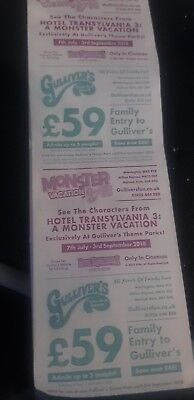 Gullivers Theme Park Voucher Up To 5 People Entry For £59
