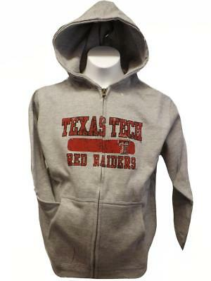 Fan Apparel & Souvenirs New Texas Tech Red Raiders YOUTH Sizes S-M-L-XL Gray Full Zip Jacket Hoodie $50