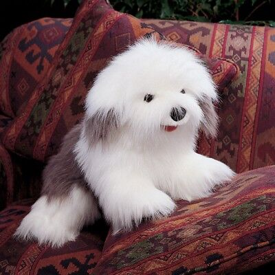 # New FOLKMANIS Hand PUPPET Soft Plush Toy OLD ENGLISH SHEEPDOG Stuffed Puppy