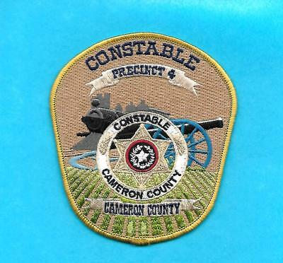 Texas -Awesome Constable Prct# 4- Cameron County- Cannon & Train- Great Patch