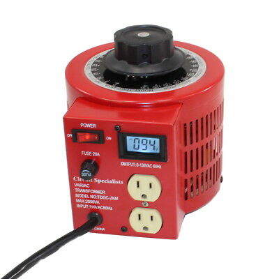 Bench Top 20 Amp Variac Variable Auto-Transformer with LCD Digital Display