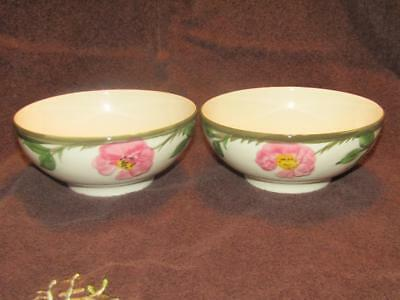2 Franciscan Desert Rose Footed Oatmeal Dishes  Flying F mark