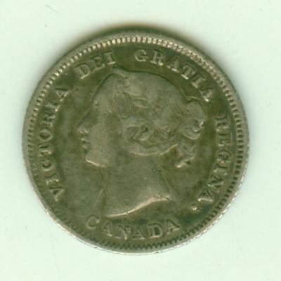 Canada Silver 1881H 5 Cents-Lot A2