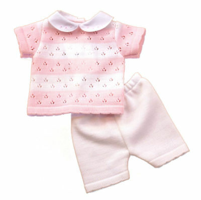 Pex baby girls Spanish style pink & white knitted outfit 3-6 months BNWT