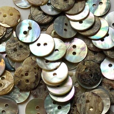 50 Vintage Abalone/MOP Buttons (Z7)