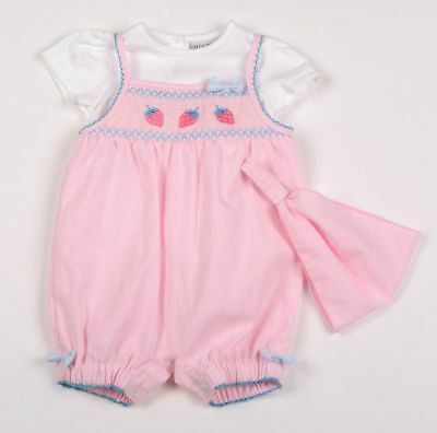 Baby girls Spanish style Romany set bows smocked romper outfit 3-6 months BNWT