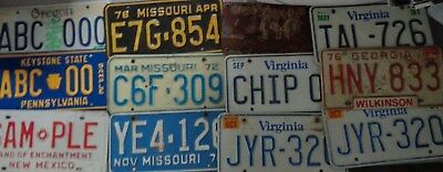 LOT of 18 License Plate Pairs Personalized Samples