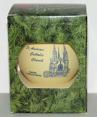 St. Andrews Catholic Church 1994 Roanoke Virginia Kiwanis Christmas Ornament