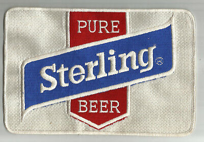 1970s 'Sterling Beer Small Uniform Patch By Sterling of Evansville. IN