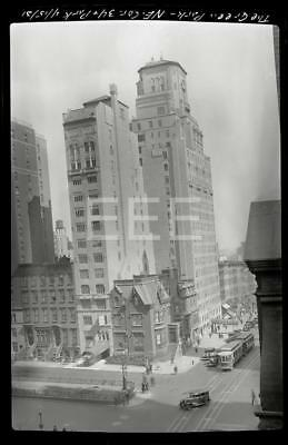 4/15/31 34th St Green Park Ave Manhattan NYC New York City Old Photo Negative H1