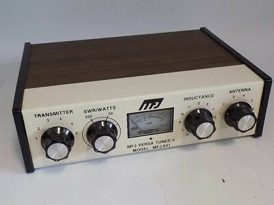 Excellent Mfj-941 1.8 - 30 Mhz 300W Pep Antenna Tuner Has Power & Swr Meter