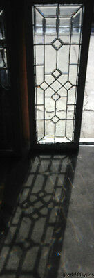 """Antique Circa 1900 Chicago Beveled Glass Transom Window 48"""" by 18"""""""