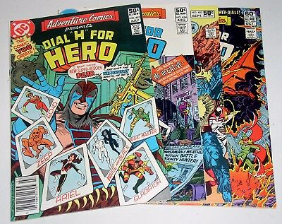 ADVENTURE COMICS FOUR (4) EA #483 TO #486 RUN  1981 Free Shipping